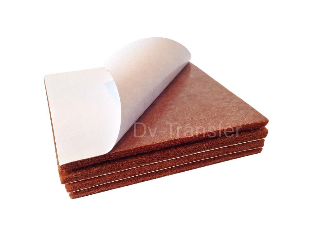 4 Oak Wood Protection Laminate Square Floor Furniture Protectors Felt Pads Vinyl Ebay